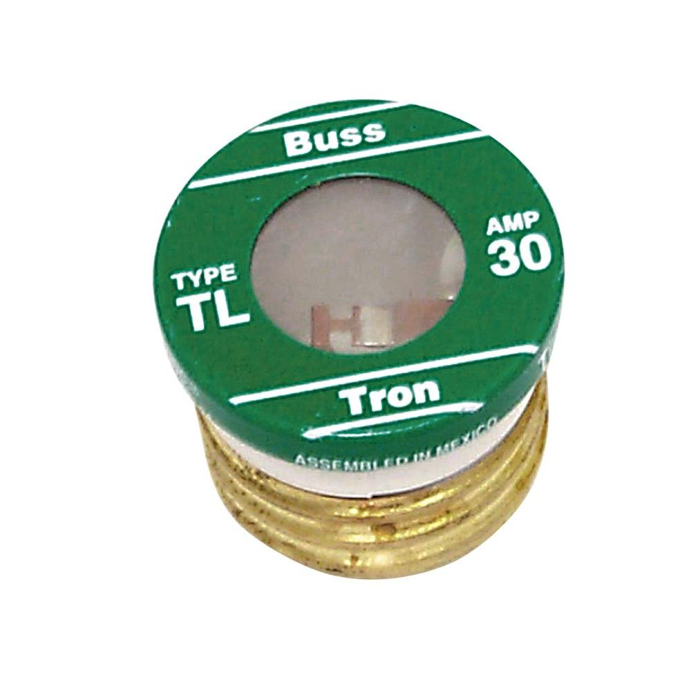 Cooper Bussmann TL Style 30-Amp Plug Fuse (4-Pack)-TL-30PK4 - The Home