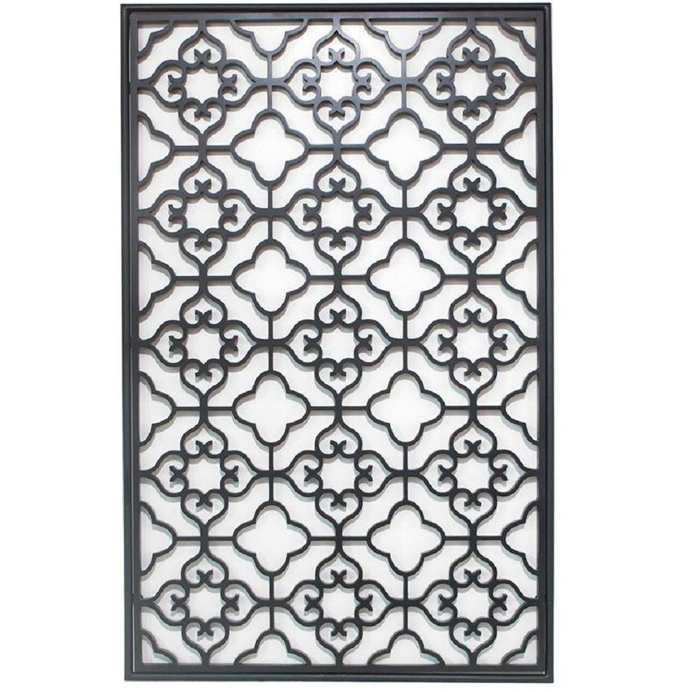 Home Decorators Collection Barletta 40 in. H x 24.5 in. W Black Wall Plaque