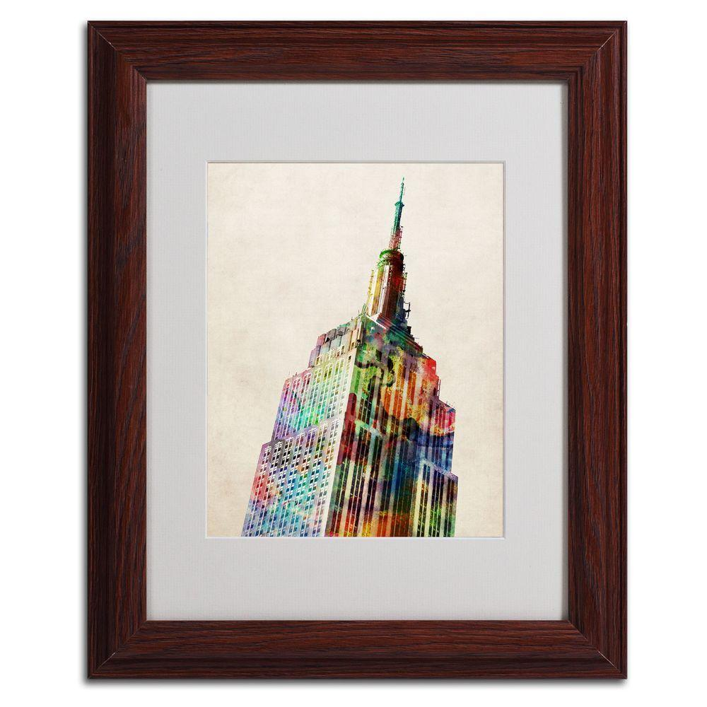 11 in. x 14 in. Empire State Matted Framed Art