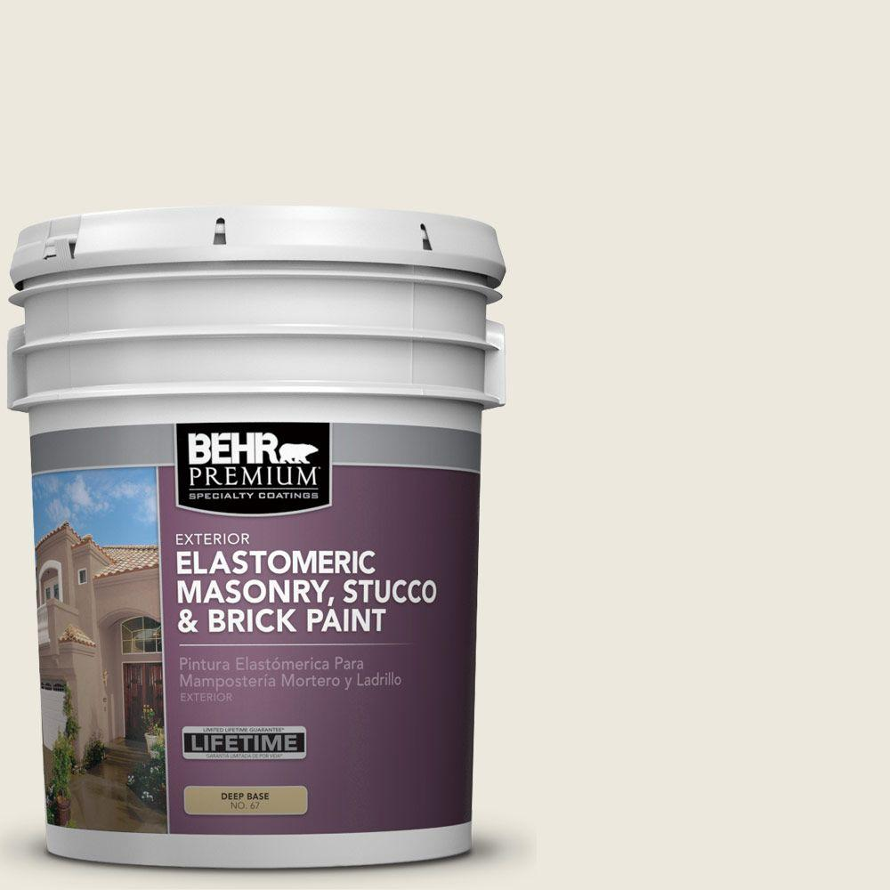 5 gal. #MS-32 Glacier White Elastomeric Masonry, Stucco and Brick Paint