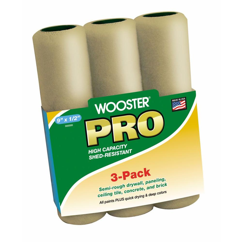 9 in. x 1/2 in. High Density Knit Roller Cover (3-Pack)