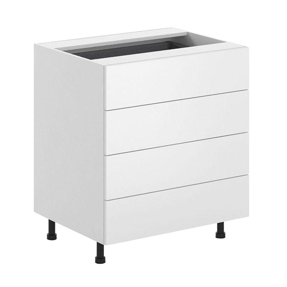 Fabritec Ready to Assemble 30x34.5x24.5 in. Alexandria 4-Drawer Base Cabinet in