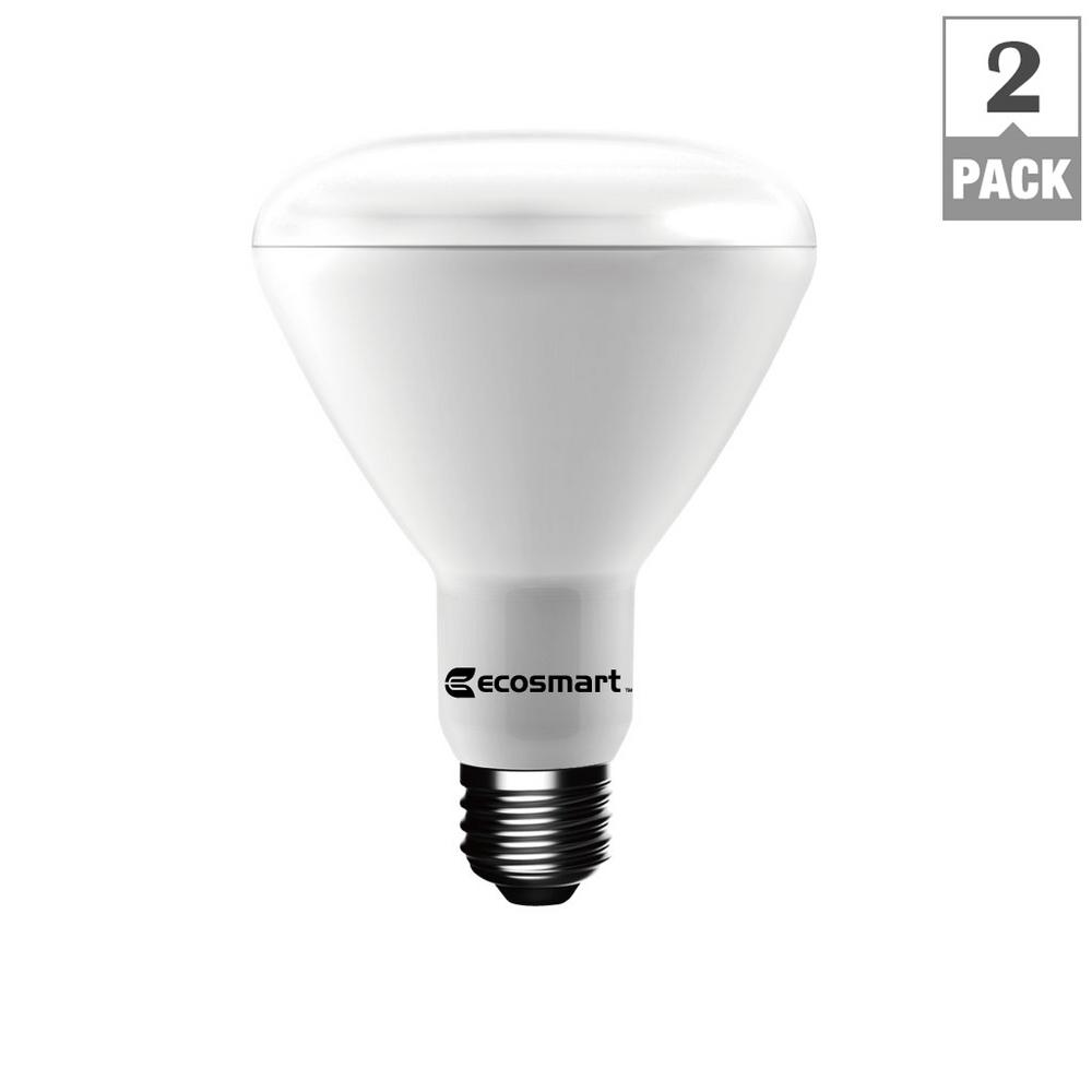 75W Equivalent Daylight BR30 Dimmable LED Light Bulb (2-Pack)