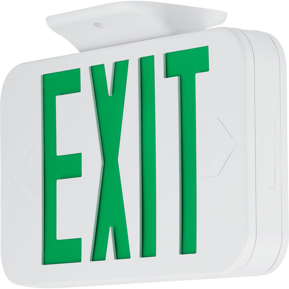 Progress Lighting 120-Volt White Integrated LED Exit Sign-PETPE-UG-30 - The Home