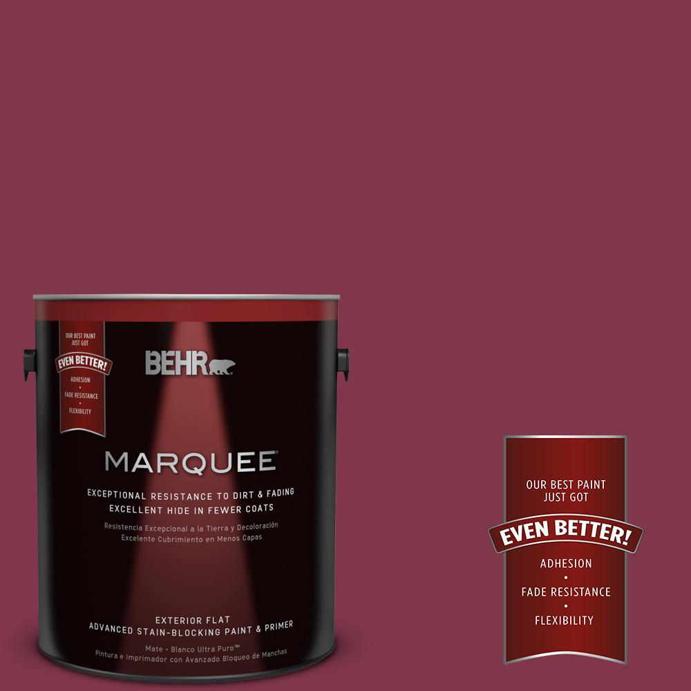 1-gal. #120D-7 Ruby Red Flat Exterior Paint