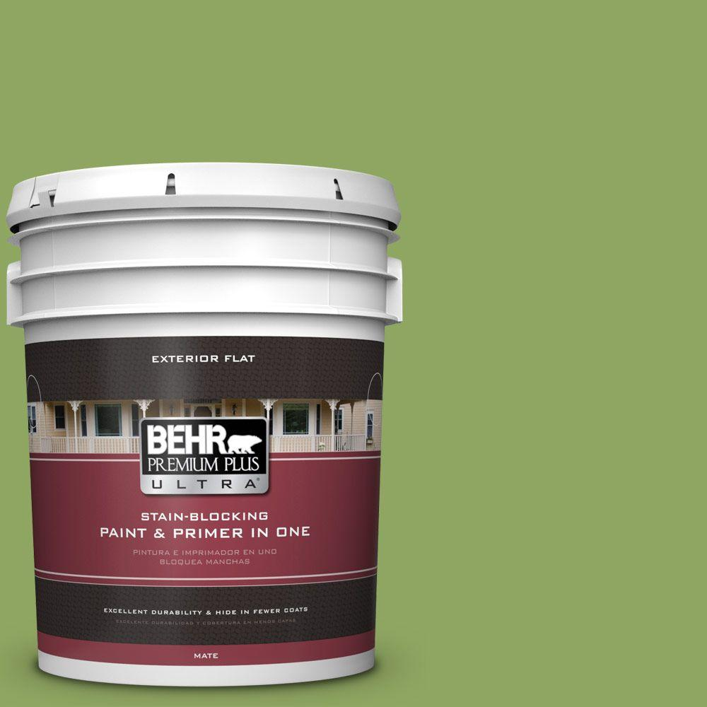 BEHR Premium Plus Ultra 5-gal. #PPU10-4 New Bamboo Flat Exterior Paint