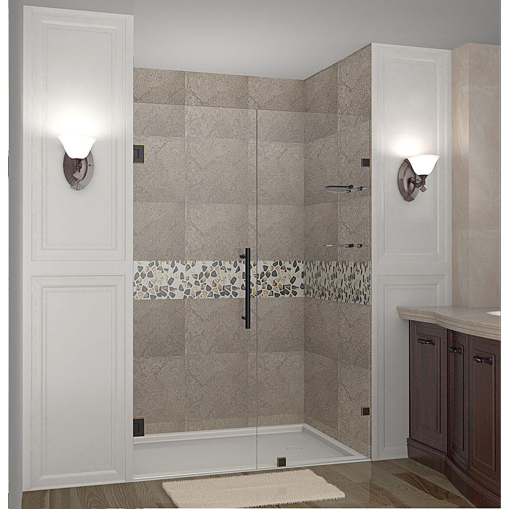 Nautis GS 41 in. x 72 in. Completely Frameless Hinged Shower