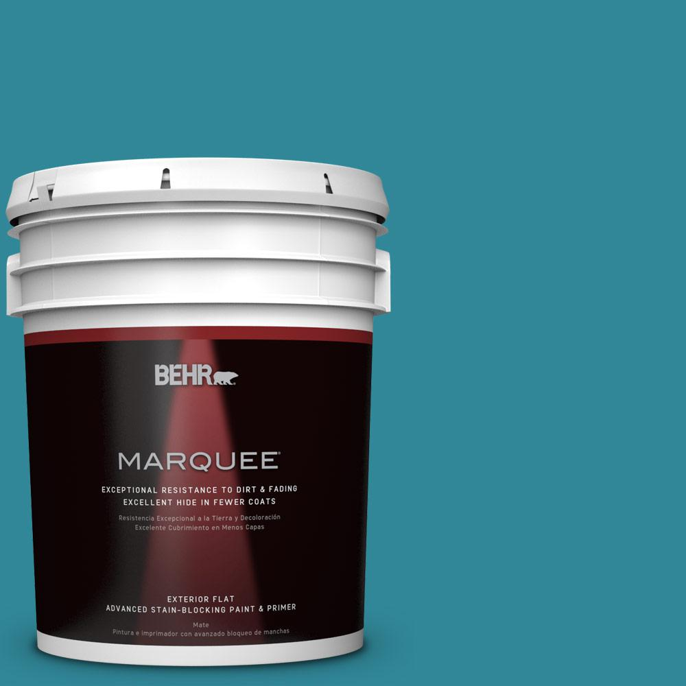 BEHR MARQUEE 5-gal. #M470-6 Precious Stone Flat Exterior Paint-445305 - The