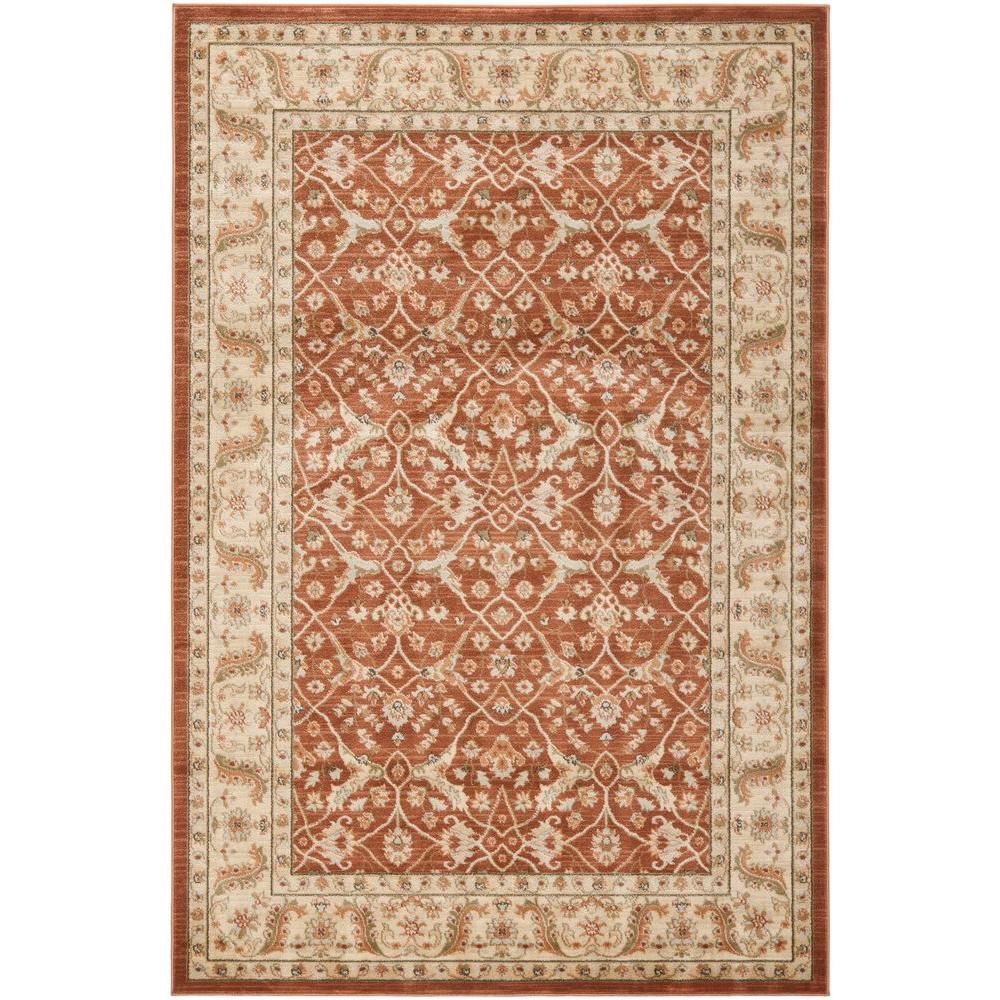 Safavieh Florenteen Rust/Ivory 5 ft. 1 in. x 7 ft. 7 in. Area Rug