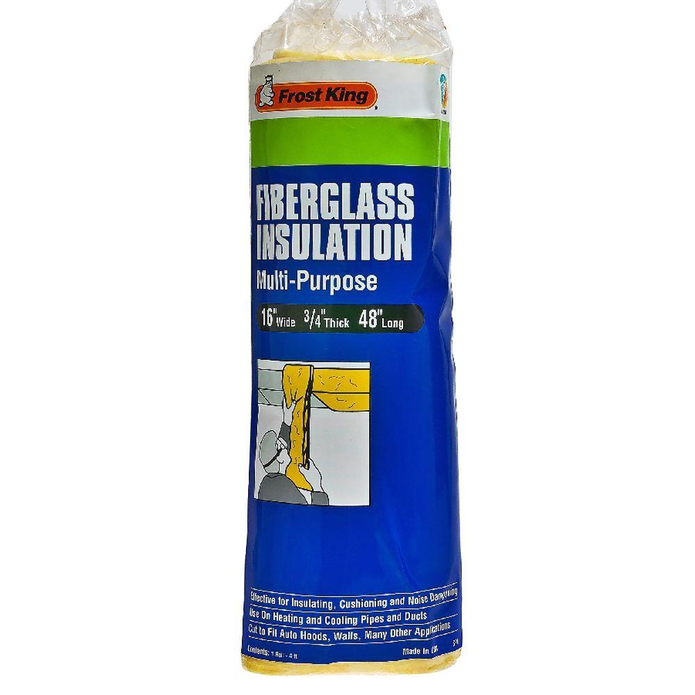 null E/O 3/4 in. x 16 in. x 48 in. Multi-Purpose Fiberglass Insulation