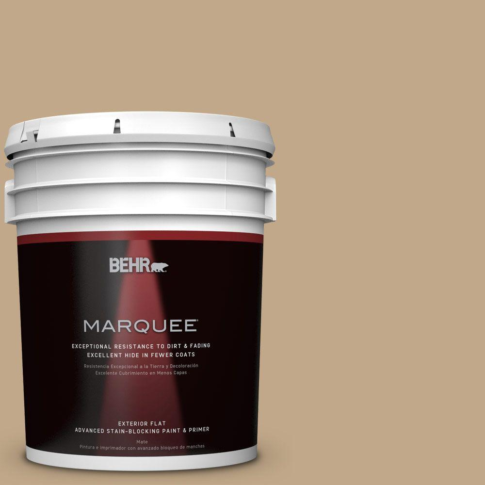 BEHR MARQUEE 5 gal. #T16-16 Symphony Gold Flat/Matte Exterior Paint-445405 -