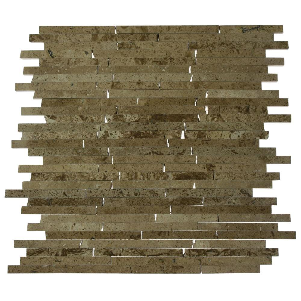 Splashback Tile Cracked Joint Random Noche Travertine 3 in. x 6