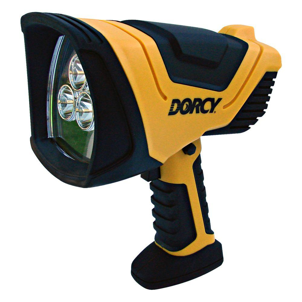 Dorcy 500 Lumen 3 LED Cyber High Flux LED Rechargeable Spotlight