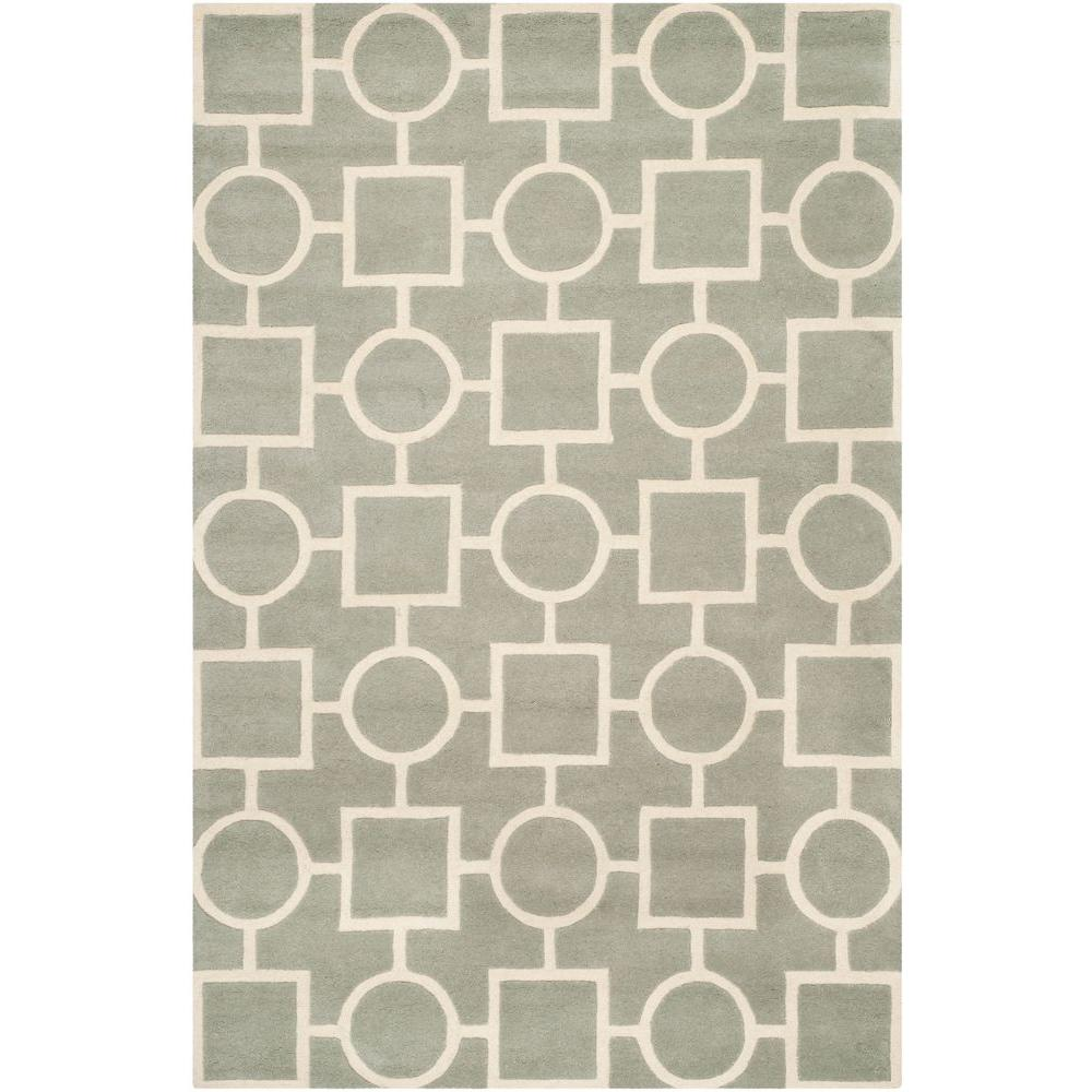 Safavieh Chatham Grey/Ivory 8 ft. 9 in. x 12 ft. Area