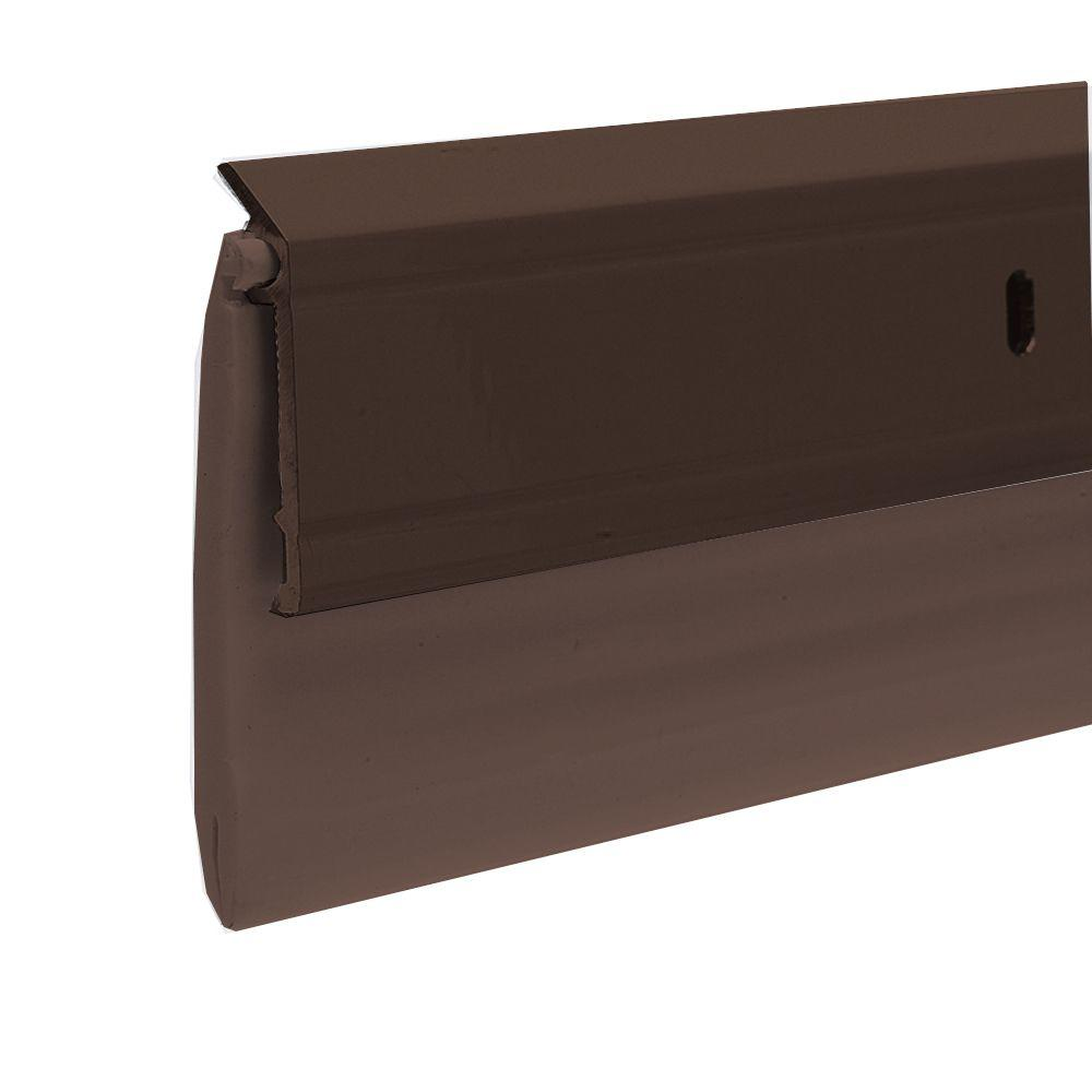 E/O 2-3/8 in. x 36 in. Brown Aluminum/Vinyl Ex-Wide Door Sweep