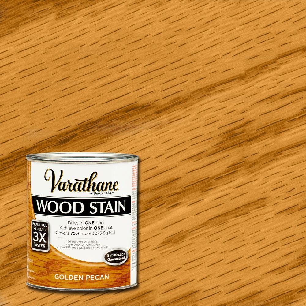 Varathane 1/2 pt. Golden Pecan Wood Stain-266270 - The Home Depot