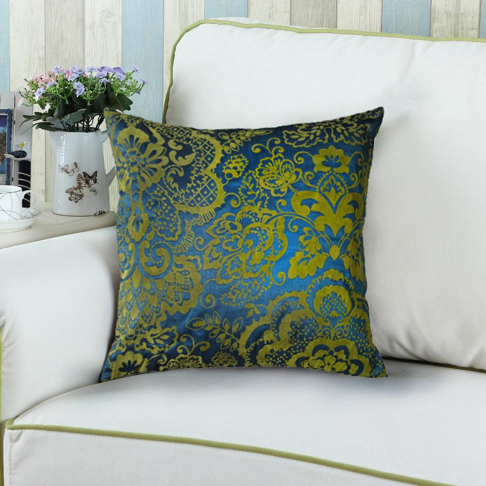 LR Resources Contemporary Linden Lapis 18 in. x 18 in. Square Decorative Accent Pillow (2-Pack)