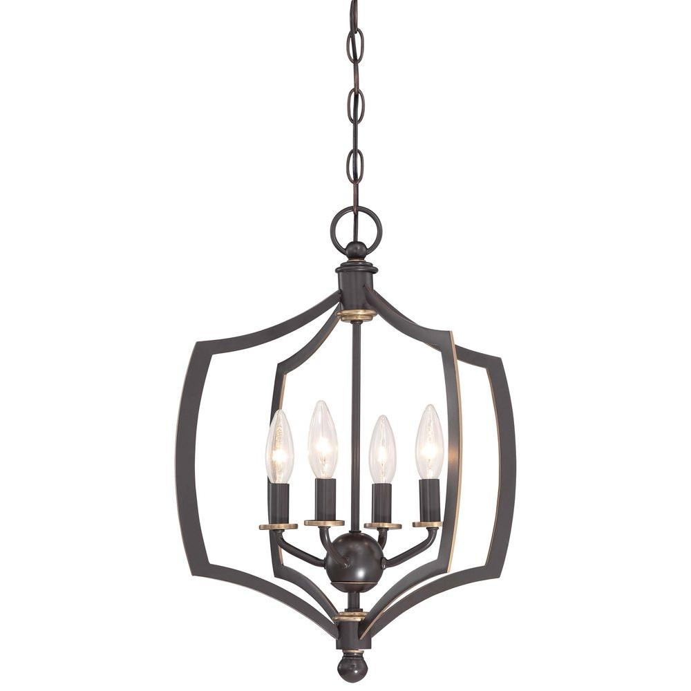 Middletown 4-Light Downtown Bronze Mini Chandelier