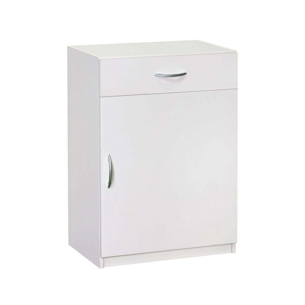 ClosetMaid 34.75 in. H x 24 in. W x 15.25 in D White Laminate 1-Door and 1-Drawer Base Cabinet
