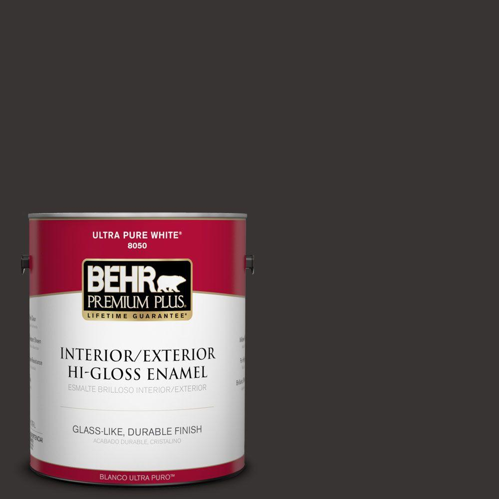 BEHR Premium Plus 1-gal. #ECC-27-3 Evening Canyon Hi-Gloss Enamel