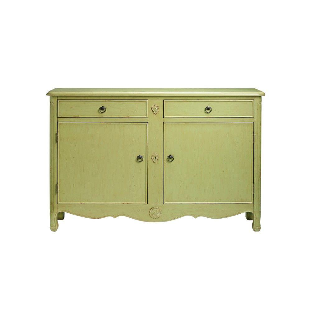 Home Decorators Collection Keys 52 in. W Distressed Pear Green Console Table