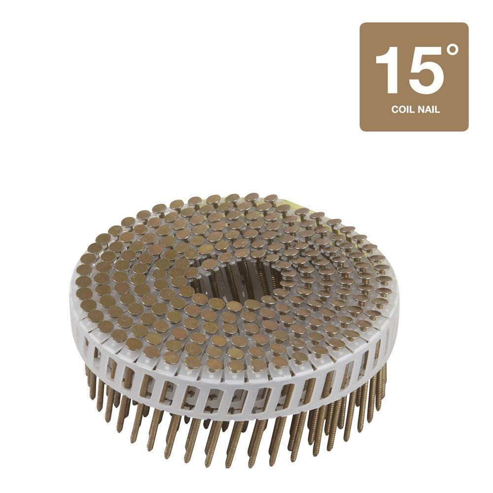 Hitachi 1-7/8 in. x 0.099 in. Plastic Sheet Ring Shank Electro galvanized Coil Nails (6,000-Pack)