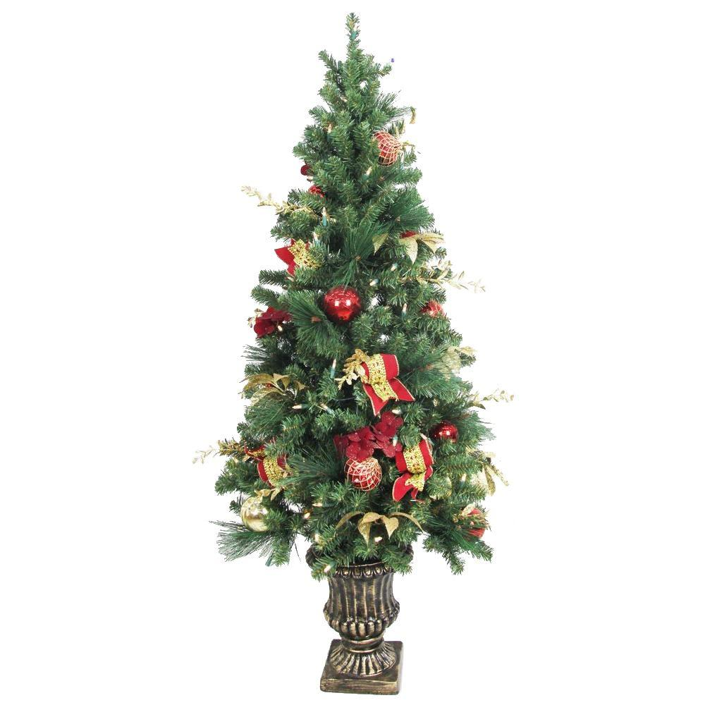 12 Ft Pre Lit Christmas Tree Costco: Home Accents Holiday 5 Ft. Battery Operated Plaza Potted