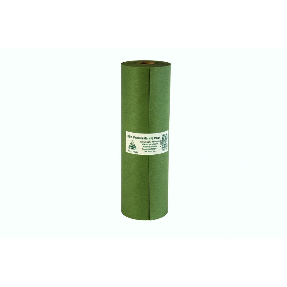 Trimaco 9 in. x 180 ft. Green Premium Masking Paper