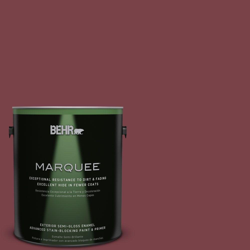 BEHR MARQUEE 1-gal. #PPU1-13 Spiced Wine Semi-Gloss Enamel Exterior Paint-545301