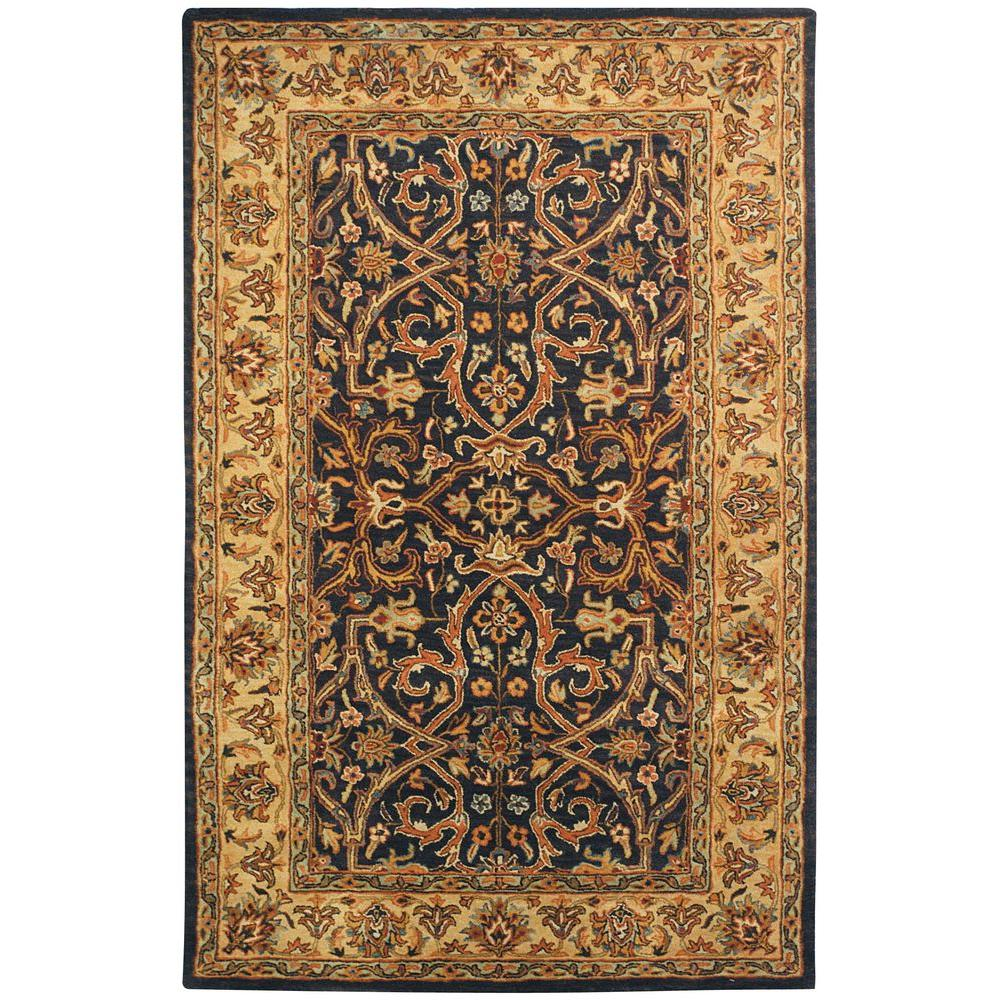 Heritage Charcoal/Beige 5 ft. x 8 ft. Area Rug