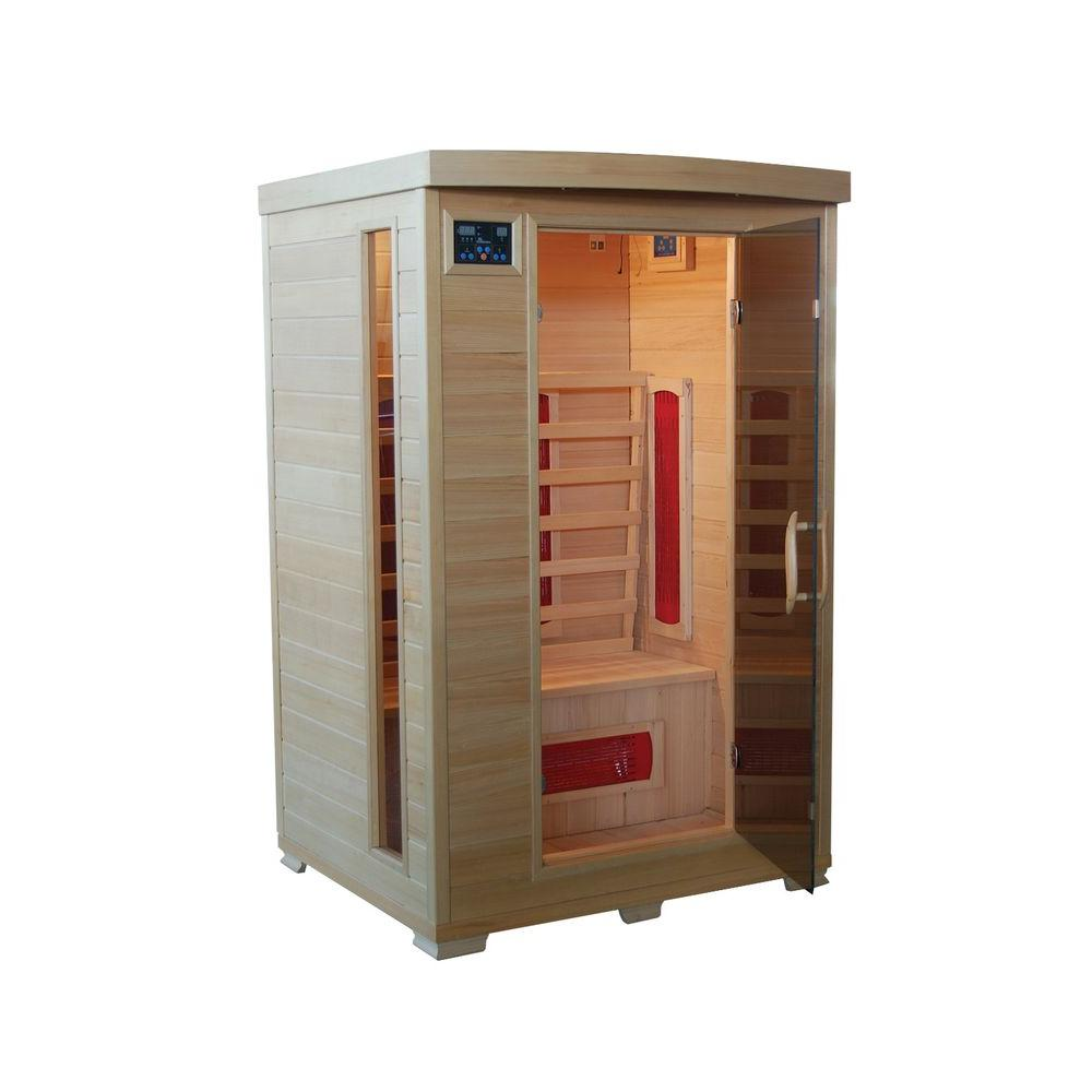 mountain ridge 2 person ceramic heater far infrared sauna esf202hce the home depot. Black Bedroom Furniture Sets. Home Design Ideas