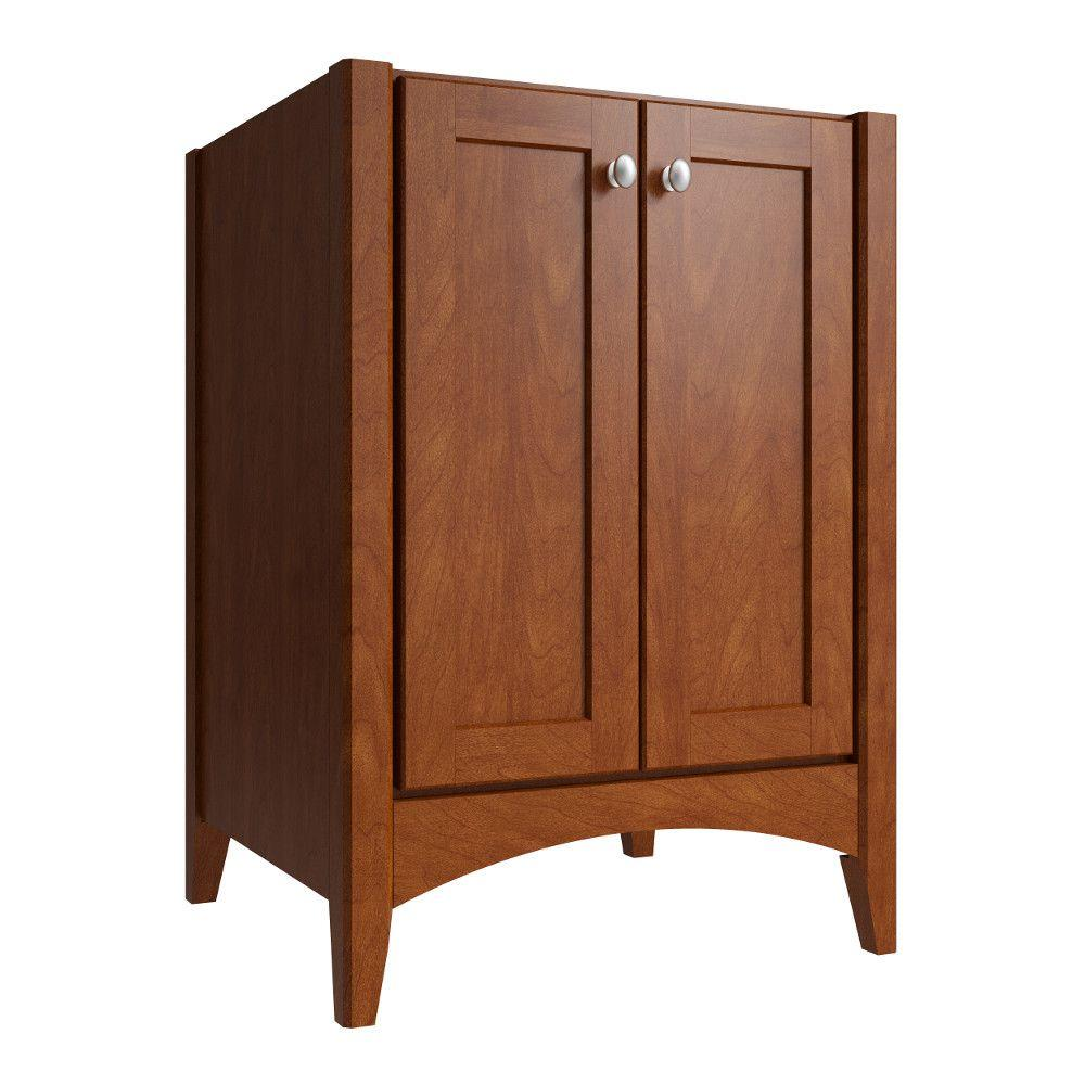Cardell Gelden 24 in. W x 21 in. D x 34.5 in. H Vanity Cabinet Only in Clove