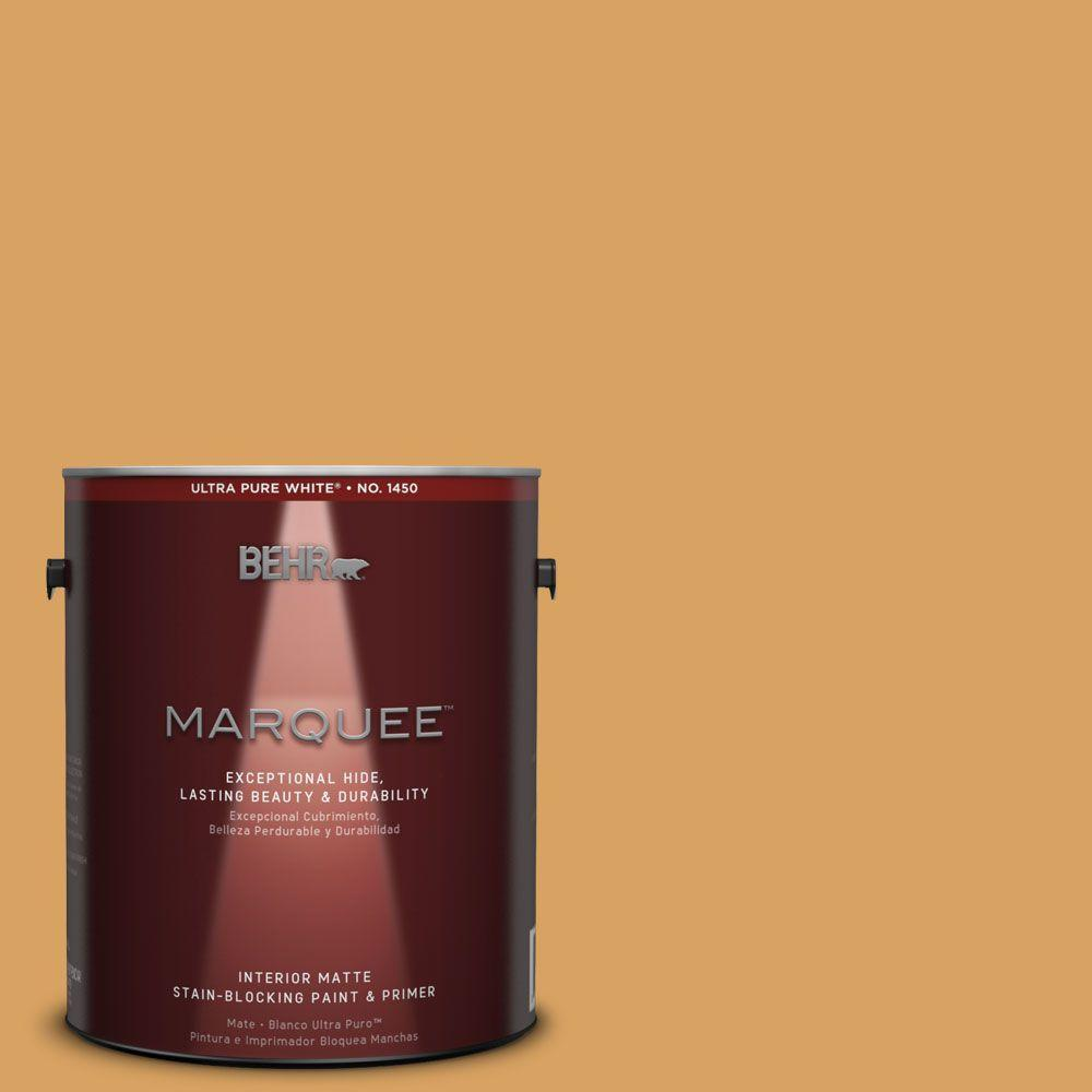 1 gal. #MQ4-10 Amber Brew One-Coat Hide Matte Interior Paint