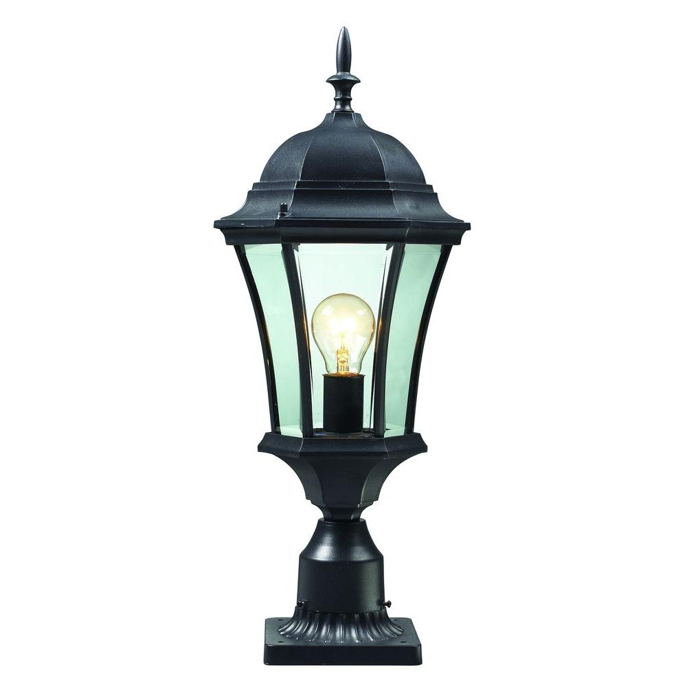 1-Light Black Outdoor Post Light-CLI-JB522PHM - The Home Depot
