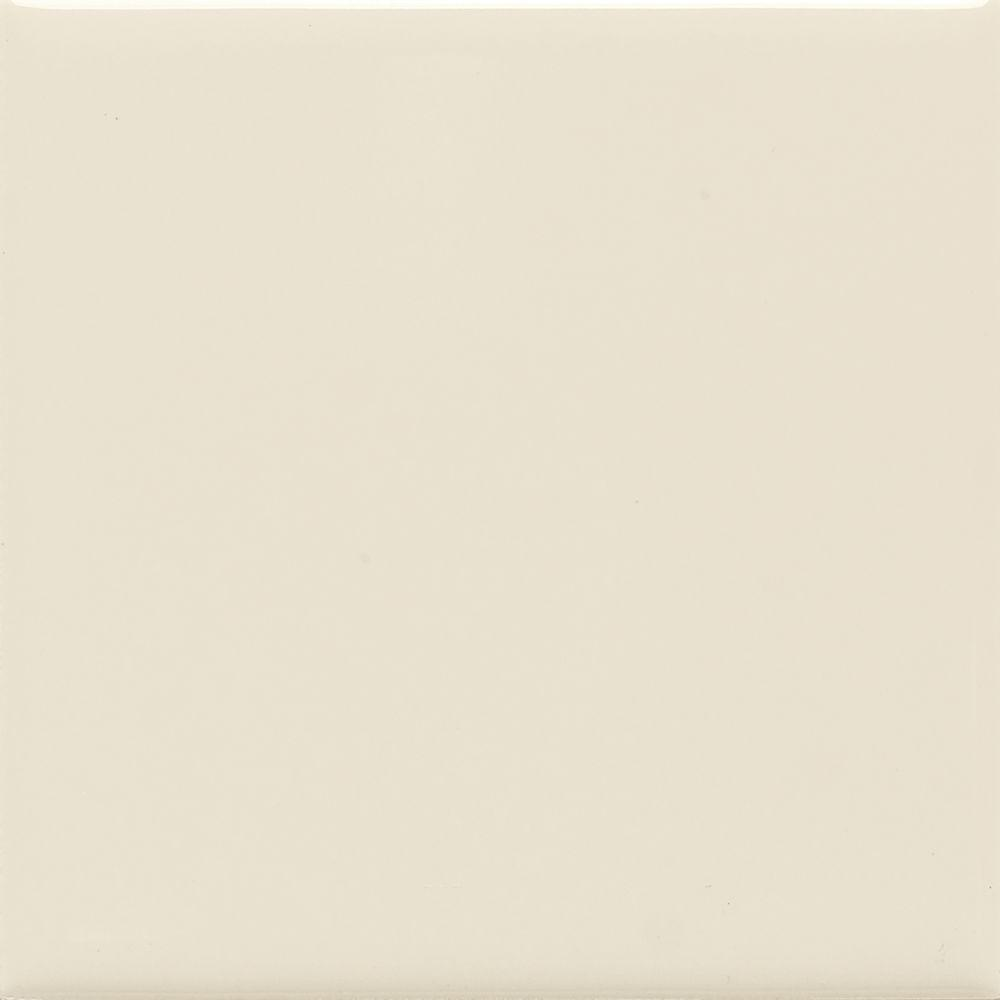 Matte Almond 6 in. x 6 in. Ceramic Wall Tile (12.5