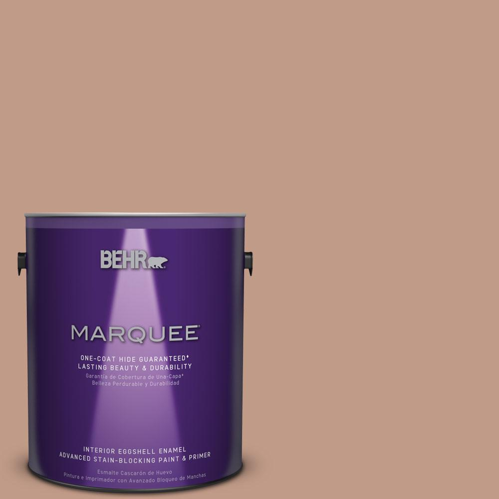 1 gal. #S200-4 Chestnut Bisque One-Coat Hide Eggshell Enamel Interior Paint