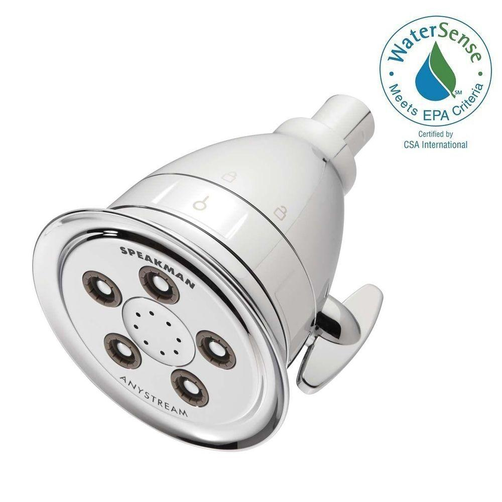 Hotel Pure 3-Spray 4.13 in. Filtered Low Flow Fixed Showerhead in