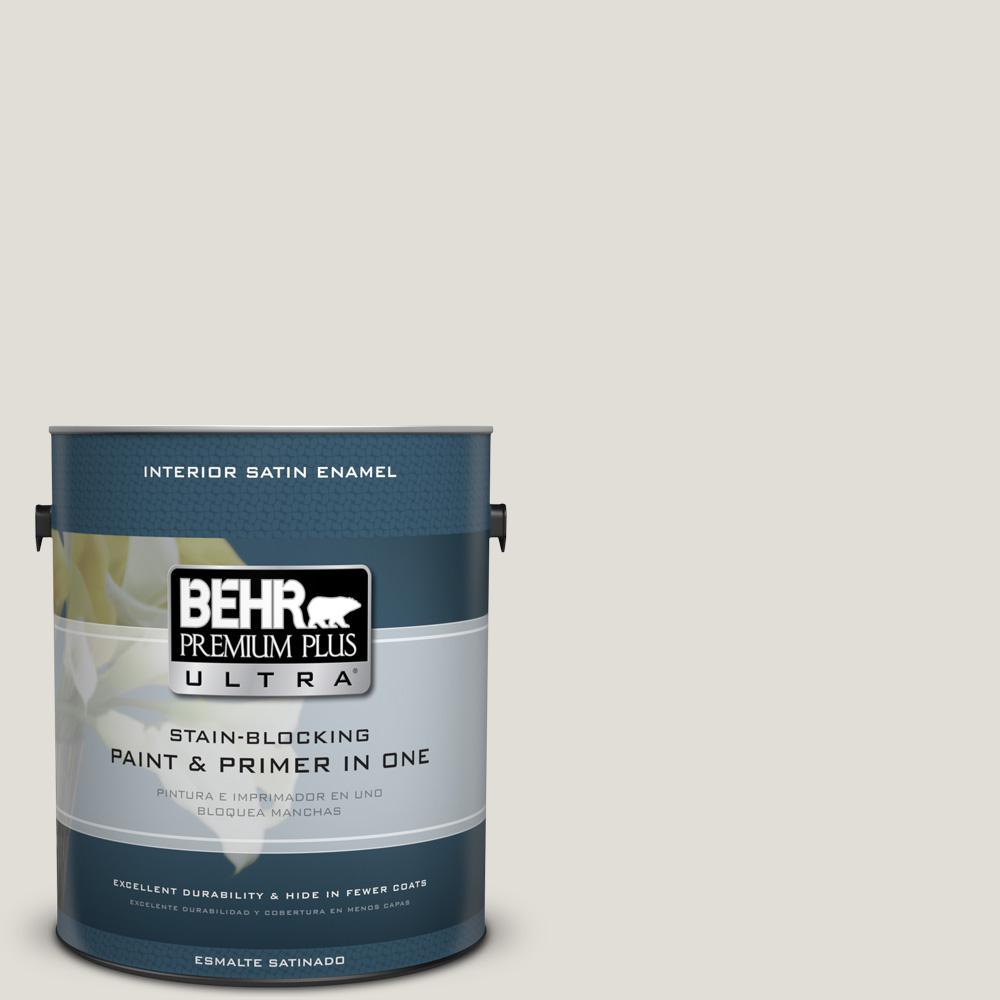 1 gal. #PPU24-15 Mission White Satin Enamel Interior Paint