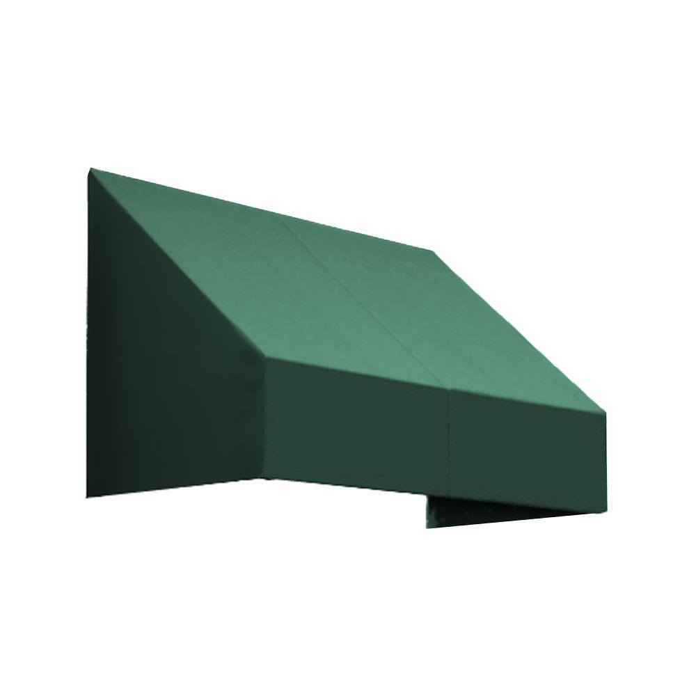 AWNTECH 4 ft. New Yorker Window Awning (44 in. H x 24 in. D) in Forest, Green