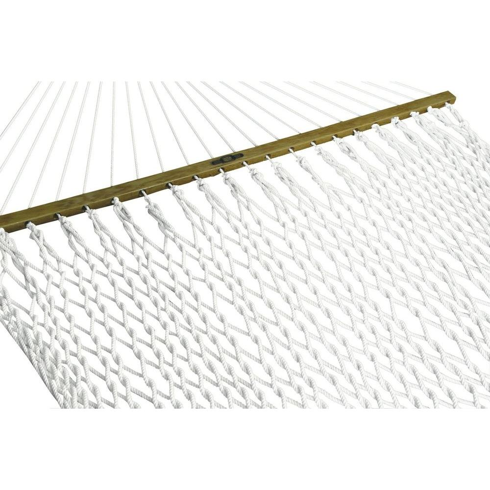 Pawleys Island 13 ft. Presidential Polyester Patio Rope Hammock in White