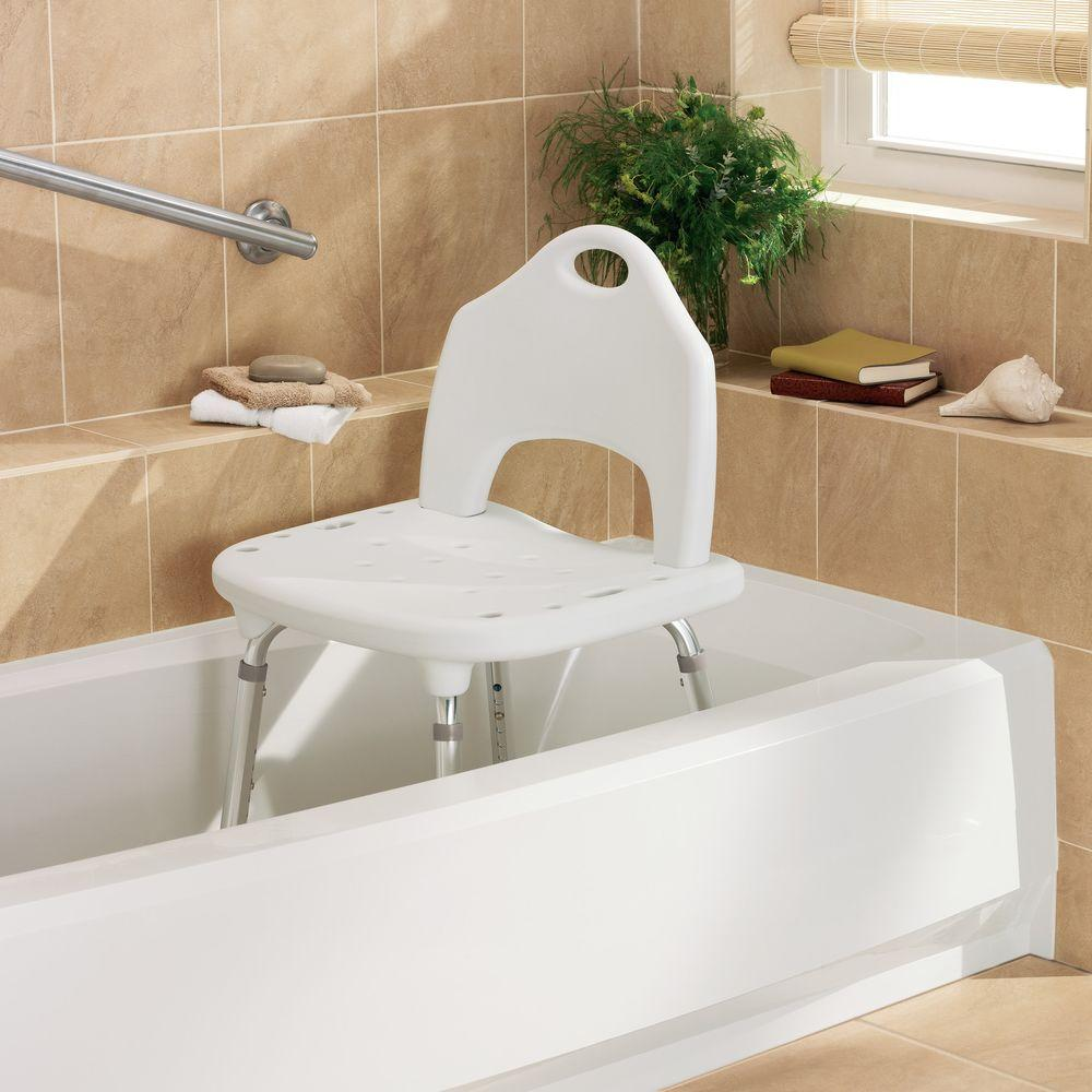 MOEN DN7060 Home Care Plastic Adjustable Shower Chair in