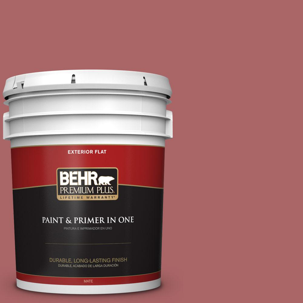 5 gal. #PPU1-06 Rose Marquee Flat Exterior Paint