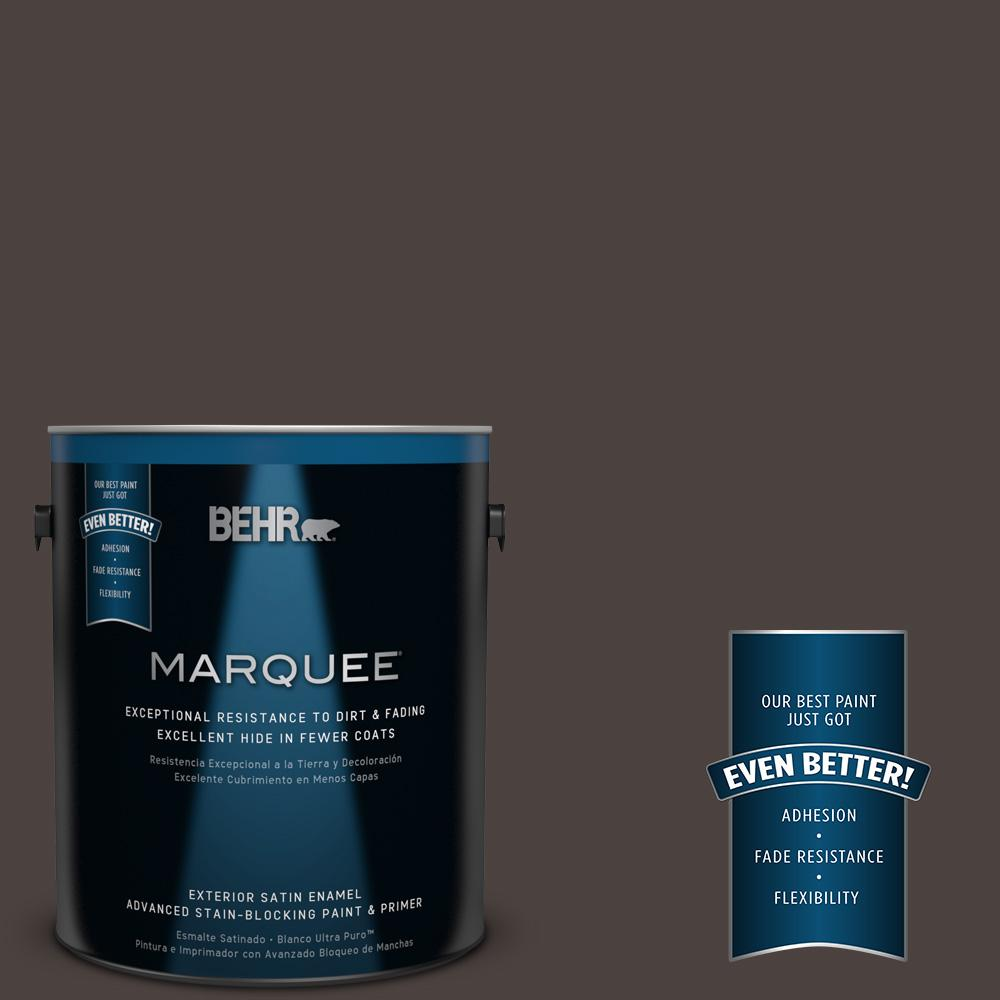 BEHR MARQUEE 1-gal. #PPU5-20 Sweet Molasses Satin Enamel Exterior Paint