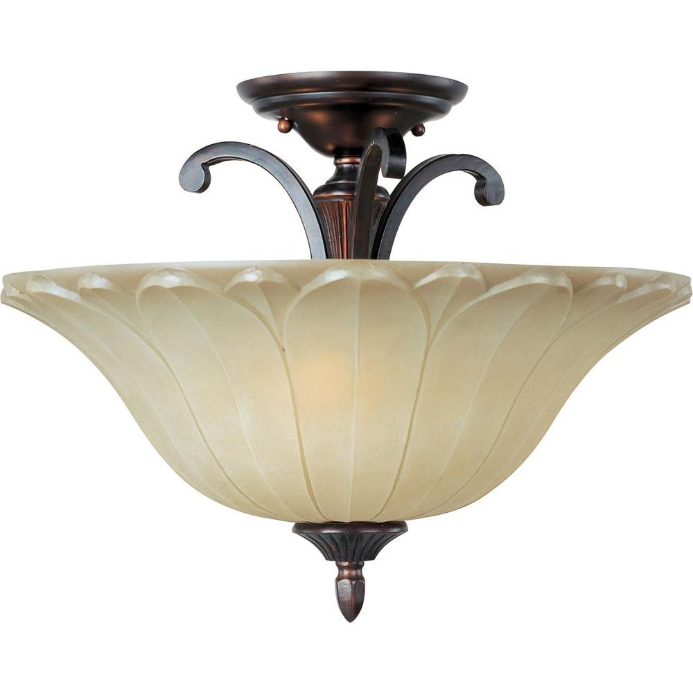 Allentown 3-Light Oil-Rubbed Bronze Semi-Flush Mount Light