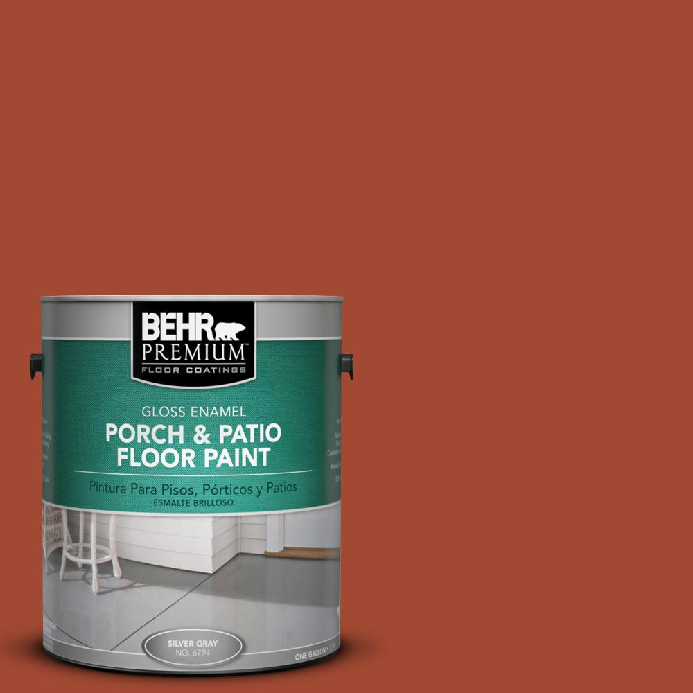 1 gal. #200D-7 Rodeo Red Gloss Porch and Patio Floor Paint