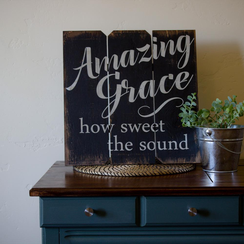 "Amazing Grace Wall Art 16 in. x 16 in. ""amazing grace""boulder innovations printed"