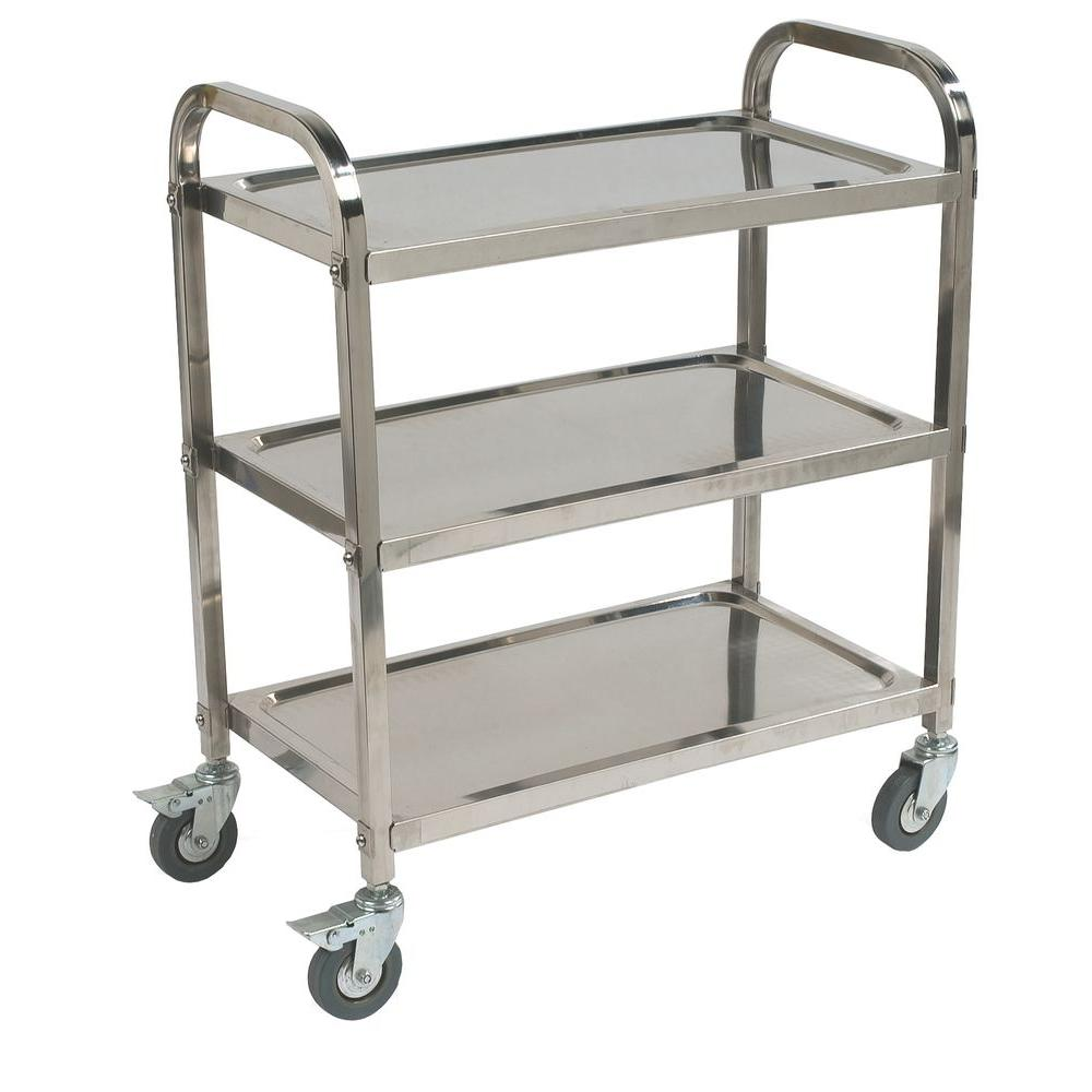 Carlisle 400# Knockdown Stainless Steel Utility Cart-UC4031529 - The Home Depot