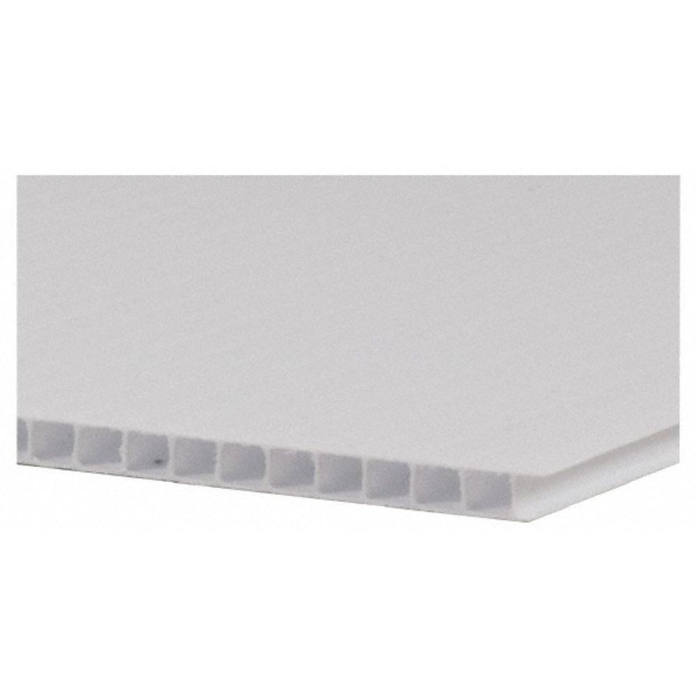 48 in. x 96 in. x 0.157 in. White Twin Wall