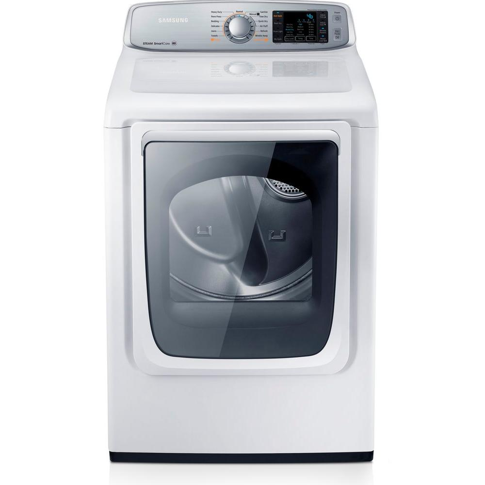 Samsung 7.4 cu. ft. Gas Dryer with Steam in White-DV50F9A6GVW -