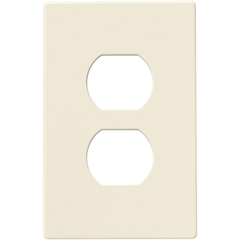 Cooper Wiring Devices Lighting Wall Plates 2 Switch Duplex Nylon Wall Plate - Light Almond PJS8LA